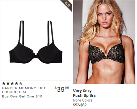 Victoria Secret Models Without Push Up Bras Push up bra