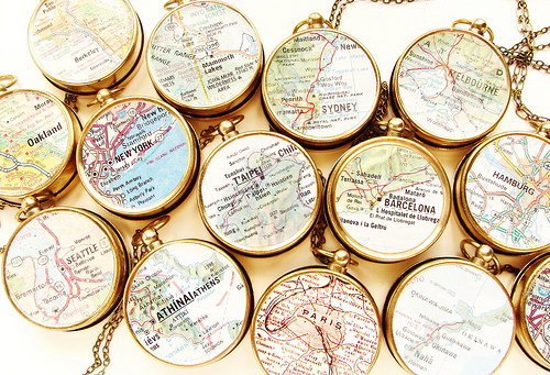 Map Compass Necklace
