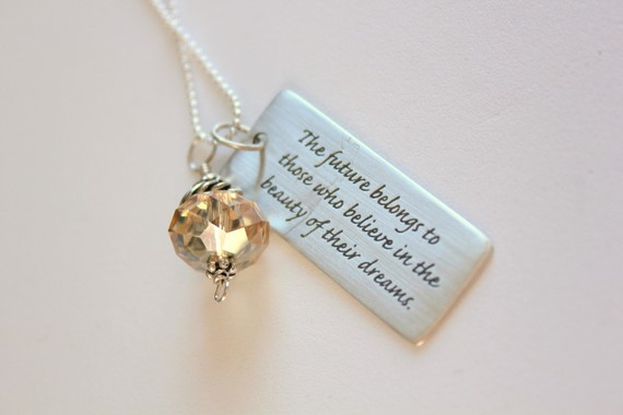 Personalized Inspirational Sterling Silver Necklace