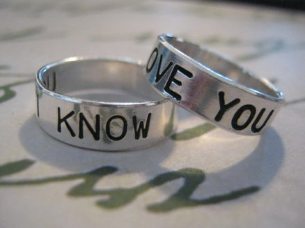 I Love You, I Know Wedding Band